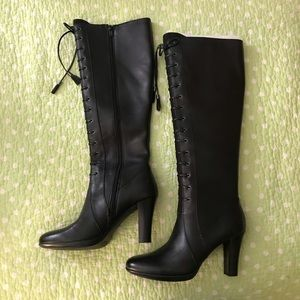 Tahari Lawton Leather heeled boots